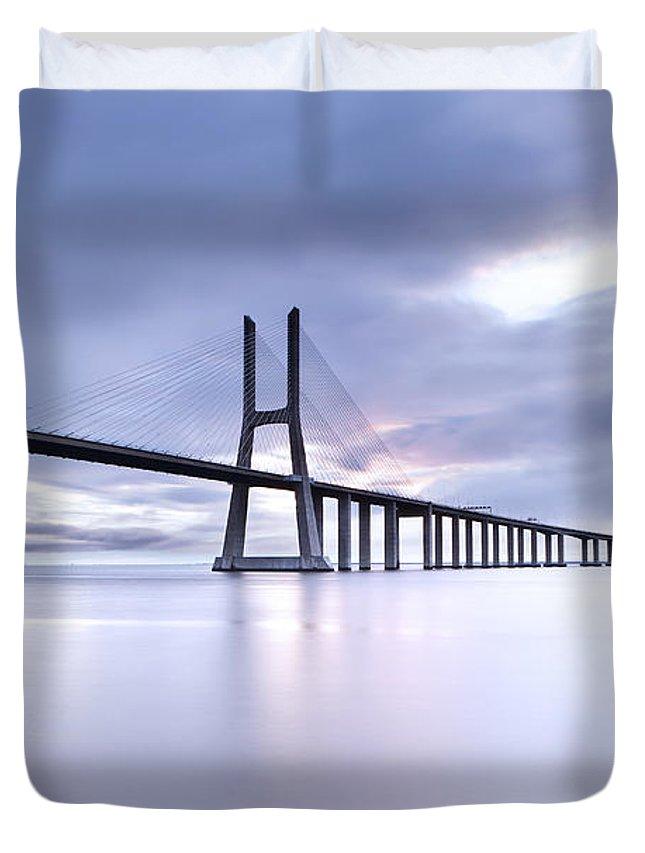 Vasco Da Gama Bridge Duvet Covers