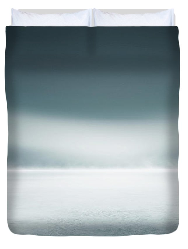 Tranquility Duvet Cover featuring the digital art Cold Studio Background by Aaron Foster