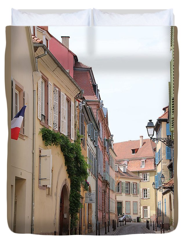 Building Duvet Cover featuring the photograph Colmar Small Street by Amanda Mohler