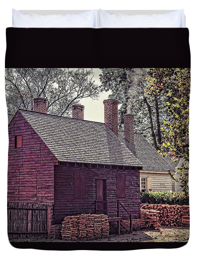 Colonial Williamsburg Duvet Cover featuring the photograph Colonial Williamsburg by Brenda Hackett