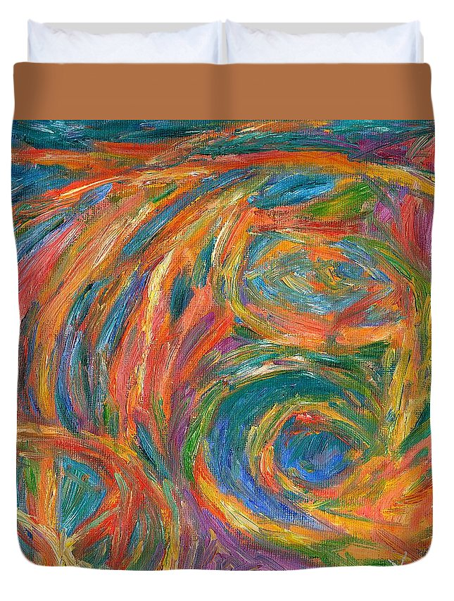 Center Of The Mind Duvet Cover featuring the painting Color Fingers by Kendall Kessler