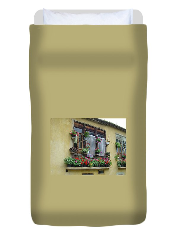 Flower Duvet Cover featuring the photograph Color Of Life by Floria Varnoos