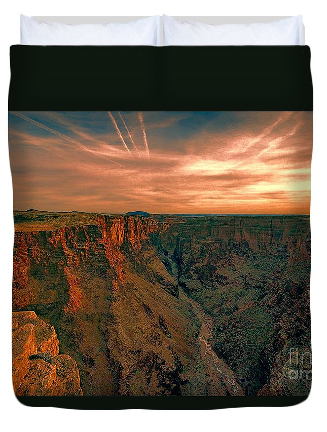 Color Duvet Cover featuring the photograph Color Of The Grand Canyon South Rim V8 by Douglas Barnard