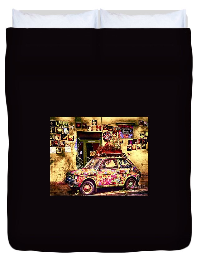 Duvet Cover featuring the photograph Color On The Road In Krakow- Poland by Karla Weber