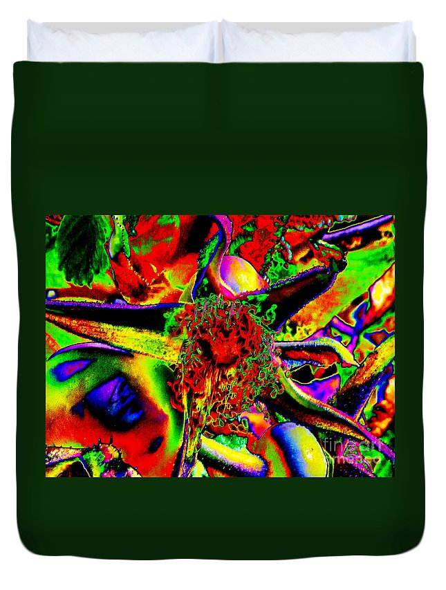 Ron Tackett Photography Duvet Cover featuring the photograph Color Star by Ron Tackett