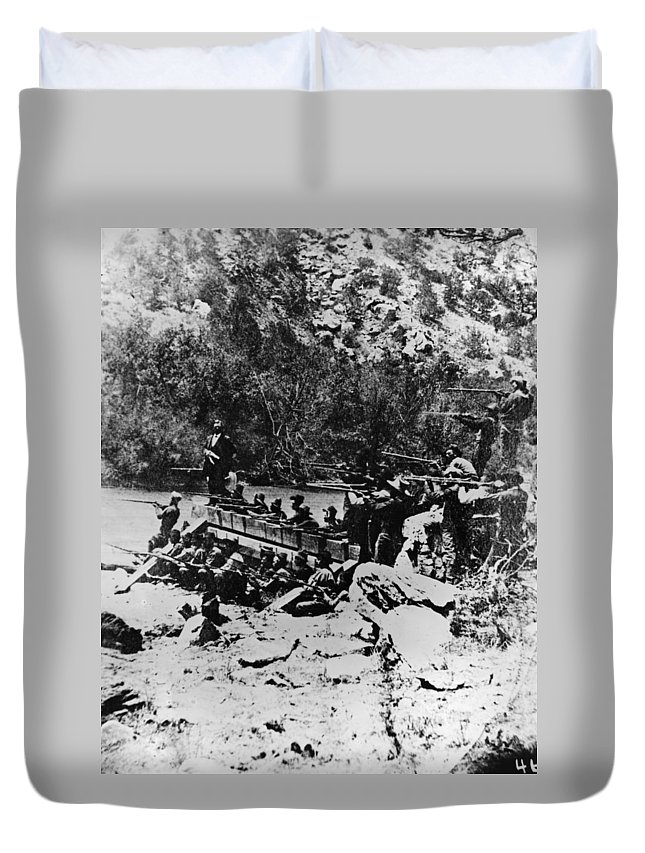 1878 Duvet Cover featuring the photograph Colorado Railroad Wars by Granger