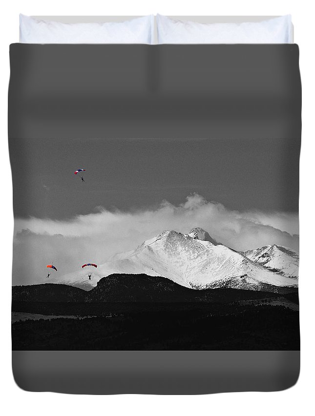 Boulder County Duvet Cover featuring the photograph Colorado Rocky Mountain High by James BO Insogna