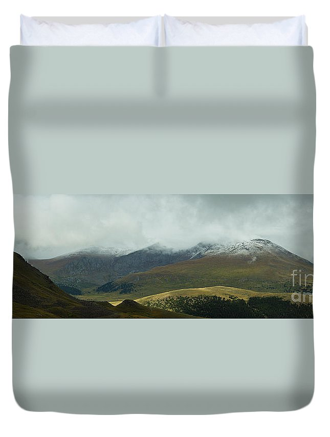 Colorado Duvet Cover featuring the photograph Colorado's Front Range Panorama by Benjamin Reed