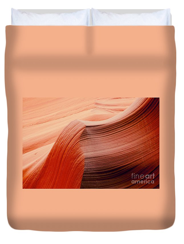 Lower Antelope Slot Canyon Page Arizona Canyons Navajo Sandstone Color Colors Formation Formations Abstract Rock Cave Caves Cavern Caverns Line Lines Shape Shapes Ridge Ridges Underground Duvet Cover featuring the photograph Colored Curves by Bob Phillips