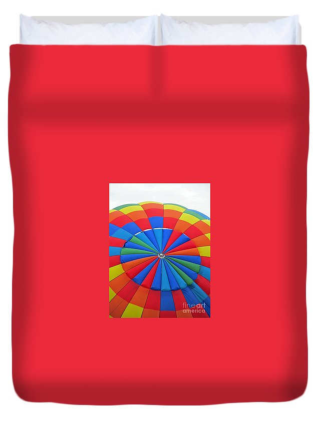 Hot Air Balloons Duvet Cover featuring the photograph Colorful by Jamie Smith