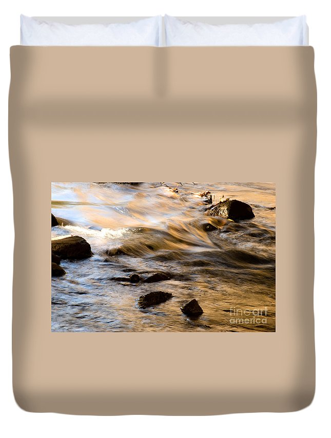 Moving Water Duvet Cover featuring the photograph Colorful Motion by Optical Playground By MP Ray