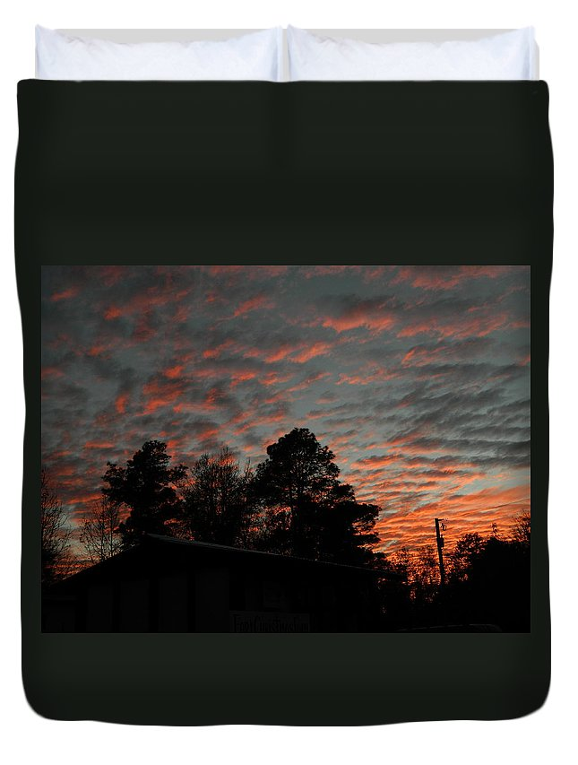 Sun Duvet Cover featuring the photograph Colorful Sky Number 5 by George Pedro