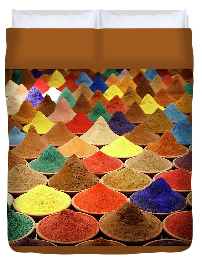 Heap Duvet Cover featuring the photograph Colorful Spices by Gabriele Kahal - Www.flickr.com/photos/gabrielekahal