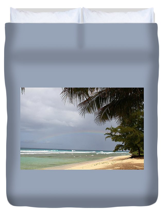 Rainbow Duvet Cover featuring the photograph Colors After The Rain by Catie Canetti