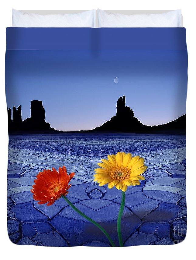 Digital Duvet Cover featuring the photograph Colors In The Valley by Edmund Nagele
