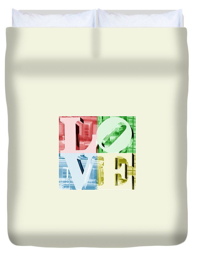 Colors Of Love Philadelphia Pa Duvet Cover featuring the photograph Colors Of Love Philadelphia Pa by Terry DeLuco