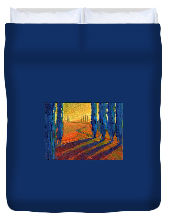 California Duvet Cover featuring the painting Colors Of Summer 2 by Konnie Kim