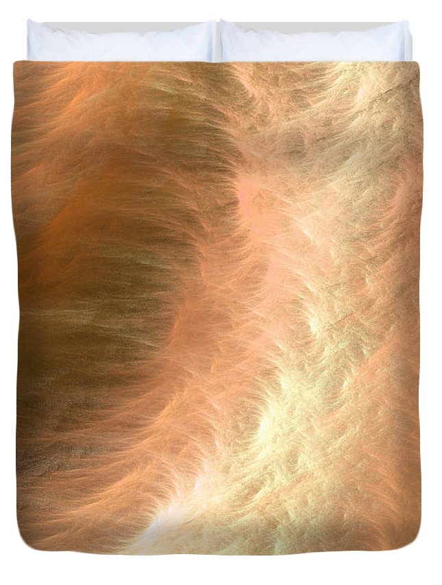 Abstract Art Duvet Cover featuring the painting Colors Of The Wind No.2 by Malcolm Regnard