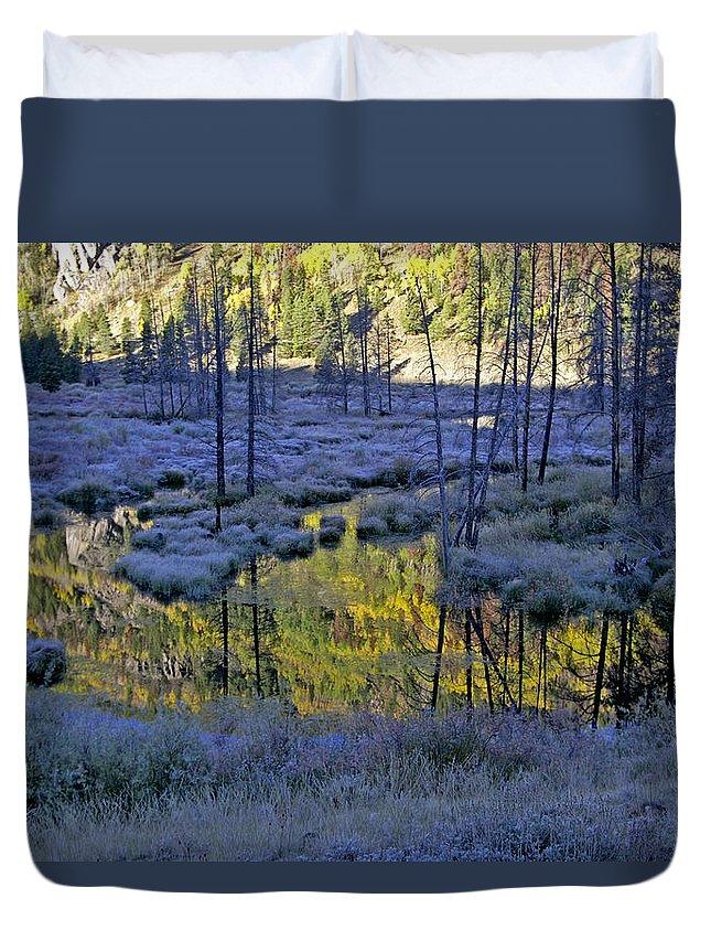 Colorado Duvet Cover featuring the photograph Colour Palette by Jeremy Rhoades