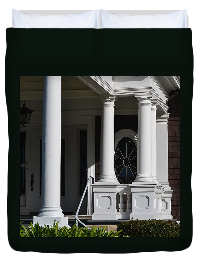 Duvet Cover featuring the photograph Columns by Dean Ferreira