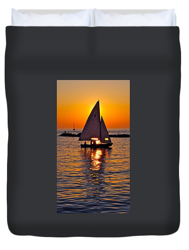 Sail Duvet Cover featuring the photograph Come Sail Away With Me by Frozen in Time Fine Art Photography