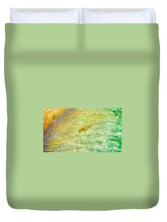 Waves Duvet Cover featuring the photograph Coming Ashore by Susan Garren