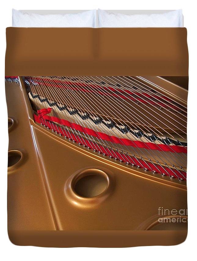 Piano Duvet Cover featuring the photograph Concert Grand by Ann Horn