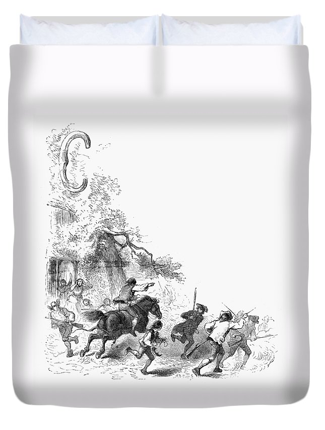 1775 Duvet Cover featuring the photograph Concord: Minutemen, 1775 by Granger