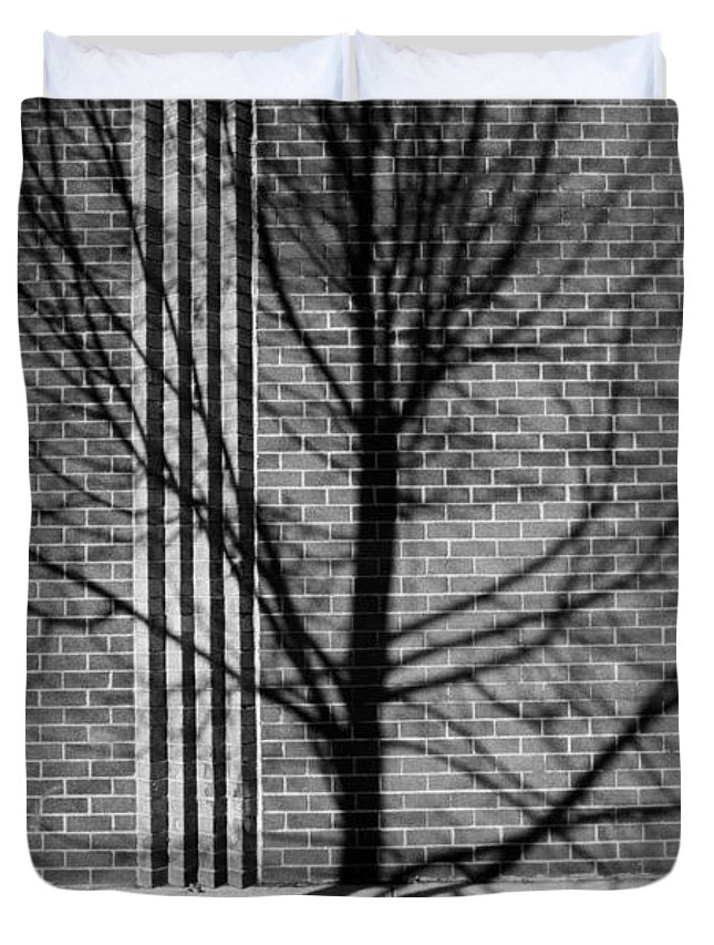 Brick Duvet Cover featuring the photograph Concrete Tree II by Kenneth Ortiz