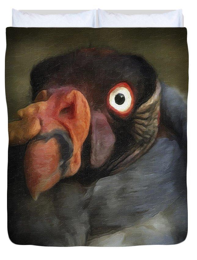 Bird Duvet Cover featuring the photograph Condor 1 by Ingrid Smith-Johnsen