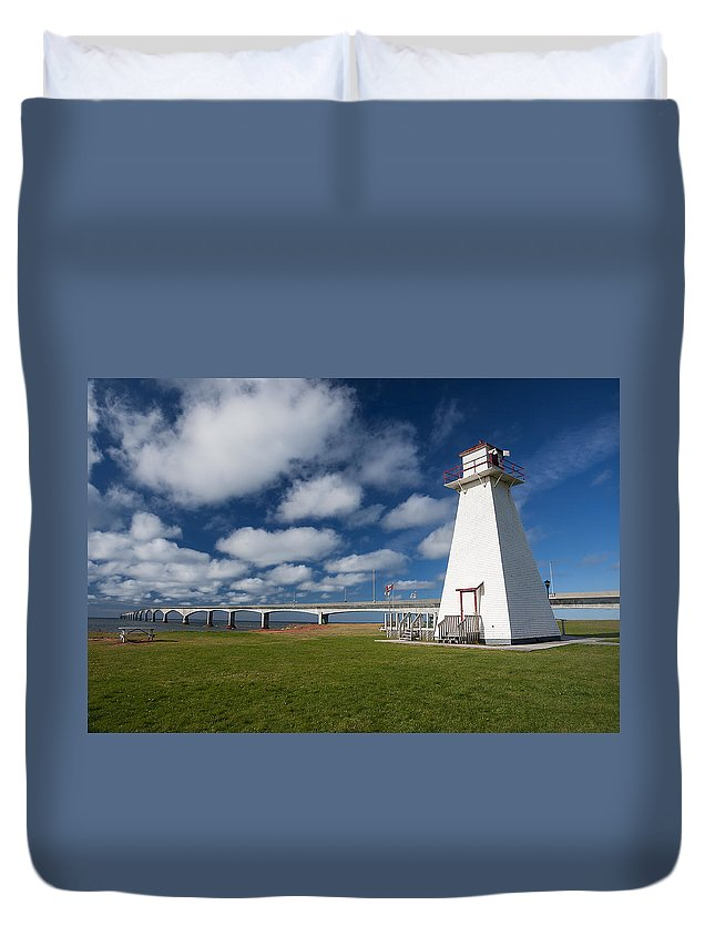 Pei Duvet Cover featuring the photograph Confederation Bridge Pei by Cenwyn Jones