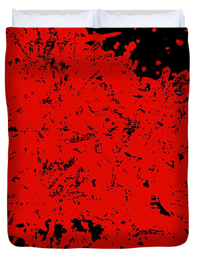 Chaos Duvet Cover featuring the digital art Chaos by James Temple