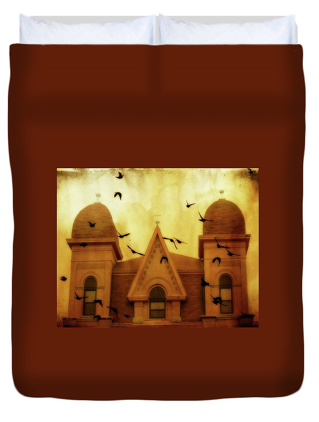 Church Duvet Cover featuring the photograph Congregation by Gothicrow Images