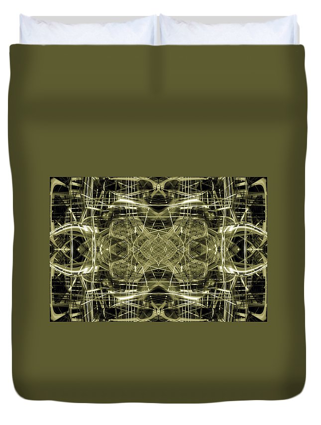 Abstract Duvet Cover featuring the digital art Connections 1 by Steve Ball