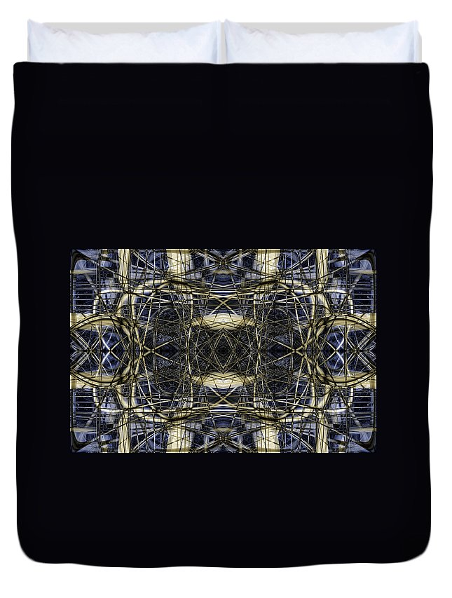 Abstract Duvet Cover featuring the digital art Connections 3 by Steve Ball
