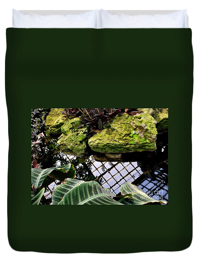 Conservatory Duvet Cover featuring the photograph Conservatory Reflections by Nancy Mueller