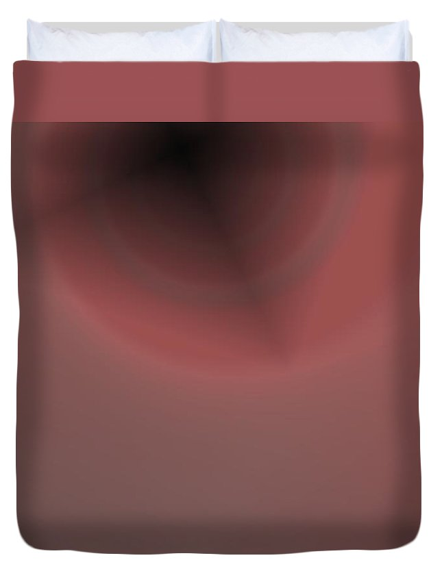 Abstract Duvet Cover featuring the digital art Constant Target by Pharris Art
