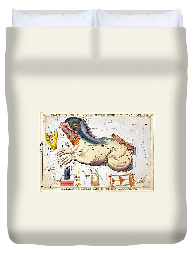 1825 Duvet Cover featuring the photograph Constellation: Cetus by Granger