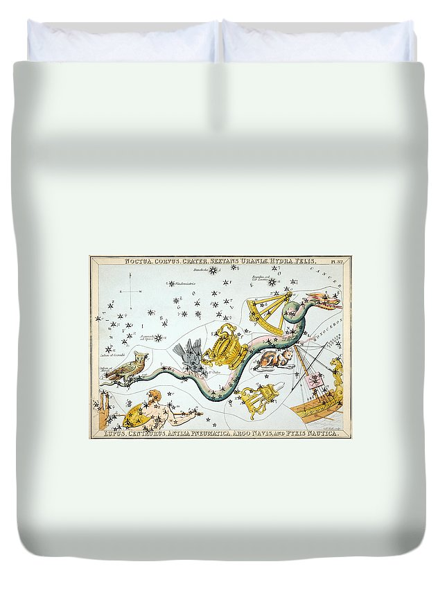1825 Duvet Cover featuring the photograph Constellation: Hydra by Granger