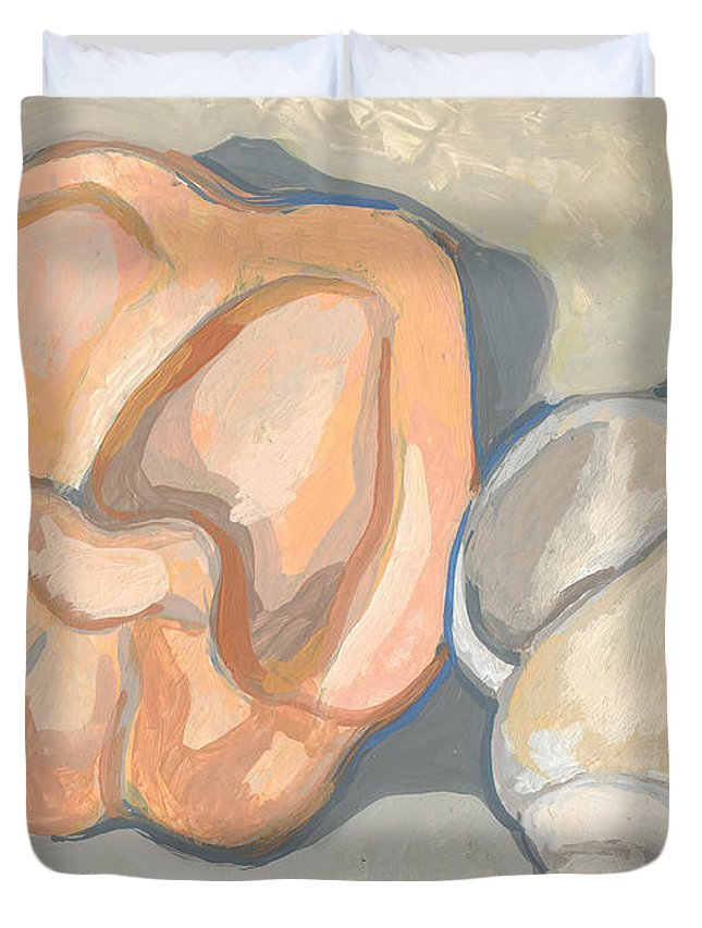 Squash Duvet Cover featuring the painting Container Forms by Richard Glen Smith