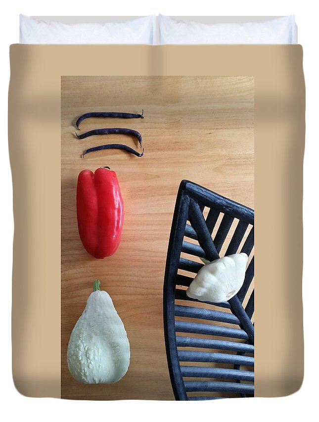 Still Life Duvet Cover featuring the photograph Contemporary Vegetables by Mark Victors