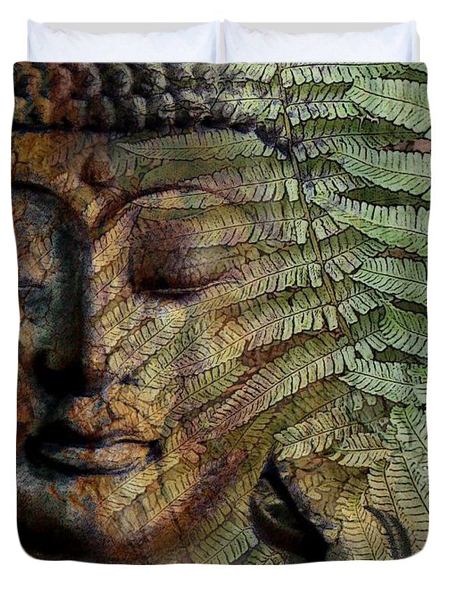 Buddha Art Duvet Cover featuring the photograph Convergence Of Thought by Christopher Beikmann