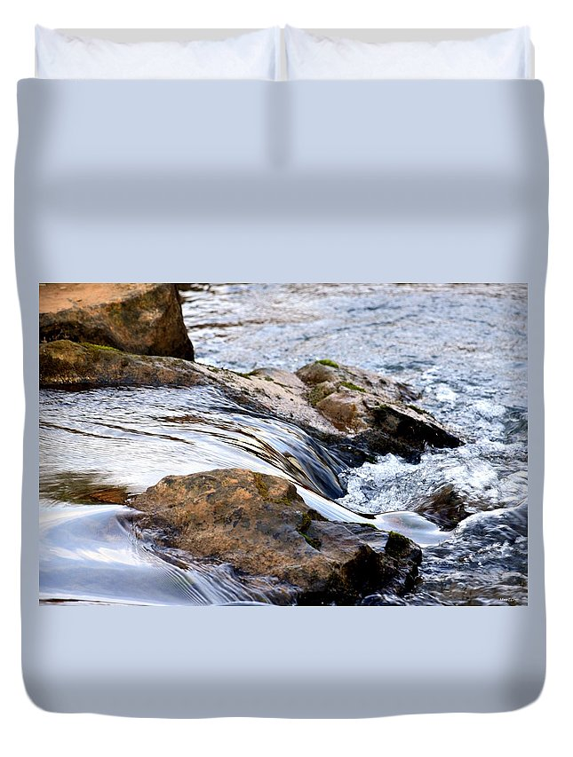 Converging Duvet Cover featuring the photograph Converging by Maria Urso