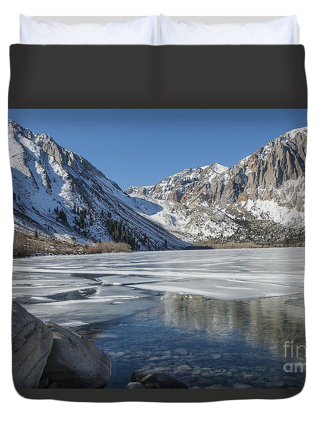 Convict Lake Duvet Cover featuring the photograph Convict Lake Morning by Sandra Bronstein