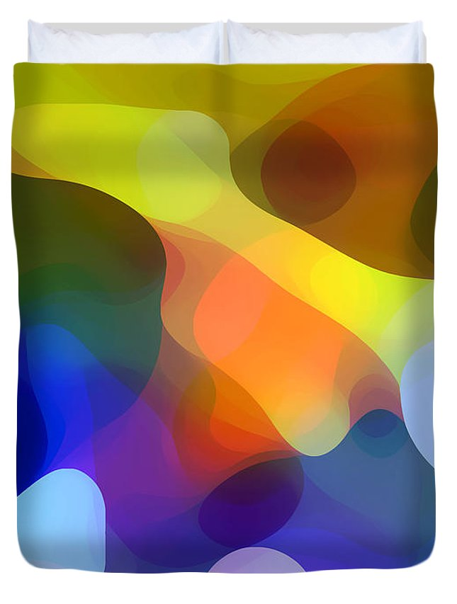 Bold Duvet Cover featuring the painting Cool Dappled Light by Amy Vangsgard