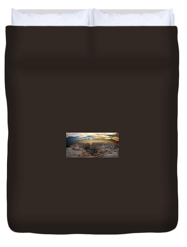 Sunrise Duvet Cover featuring the photograph Coral Cove Sunrise by Bruce Bain