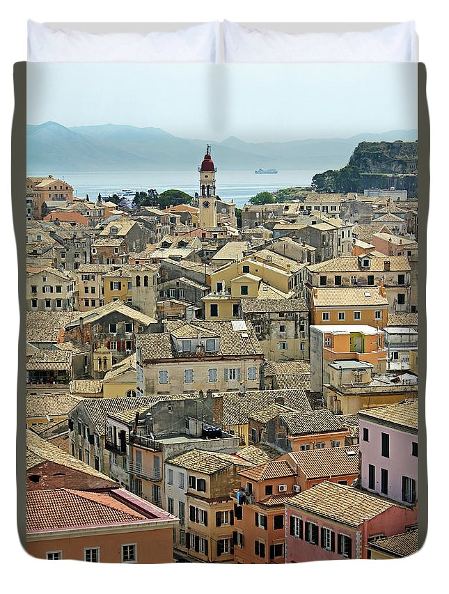 Greek Culture Duvet Cover featuring the photograph Corfu, Greece by David Gould