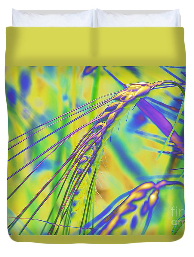 Corn Duvet Cover featuring the digital art Corn by Carol Lynch