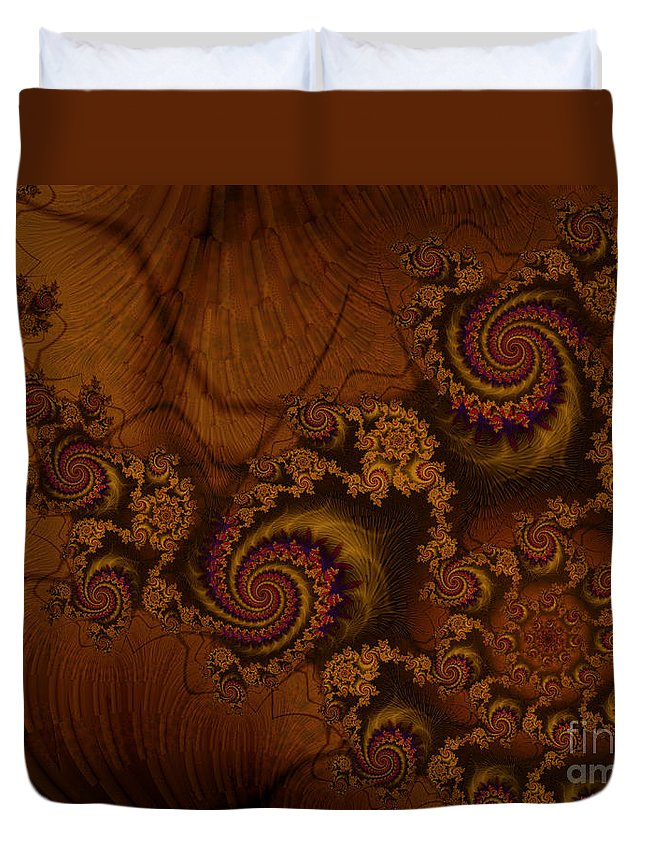 Corners Of The Mind Duvet Cover featuring the digital art Corners Of The Mind by Kimberly Hansen