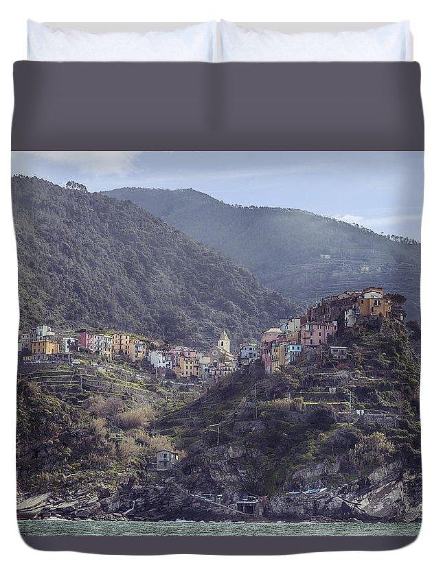 Corniglia Duvet Cover featuring the photograph Corniglia by Joana Kruse